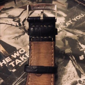 Emporio Armani Accessories - Emporio Armani Stainless Steel & Leather Watch